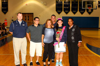 Girls Basketball Senior Night & Action 2015