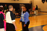 Girls Basketball Action & Senior Night 2014